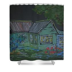 Shower Curtain featuring the painting Gabby's House by Francine Frank