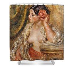 Gabrielle A Sa Coiffure Shower Curtain by Pierre Auguste Renoir