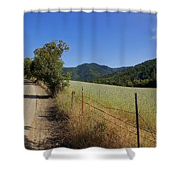 Galls Creek Road In Southern Oregon Shower Curtain by Mick Anderson