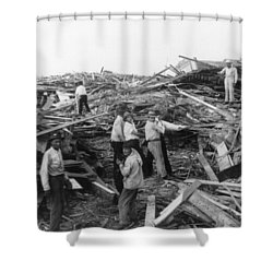 Galveston Disaster - C 1900 Shower Curtain by International  Images