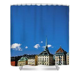 Gamia Stan Main Square Shower Curtain by Axiom Photographic