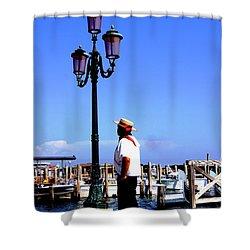 Gandola Captain Shower Curtain
