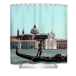 Gandola Rides In Venice Shower Curtain