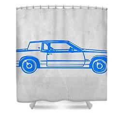 Gangster Car Shower Curtain by Naxart Studio