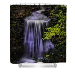 Garden Falls Shower Curtain by Lynne Jenkins