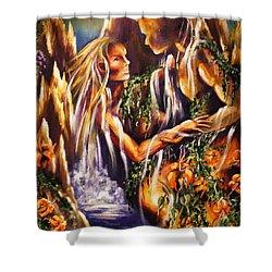 Garden Of Earthly Delights Shower Curtain by Karen  Ferrand Carroll