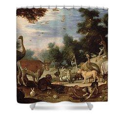 Garden Of Eden Shower Curtain by Jacob Bouttats