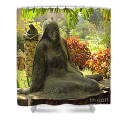 Garden Of Statues Egypt Shower Curtain by Mary Machare