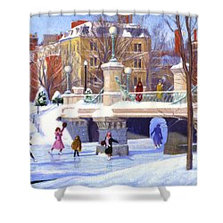 Garden Skaters Shower Curtain by Candace Lovely