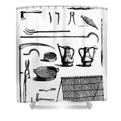 Gardening Tools Shower Curtain