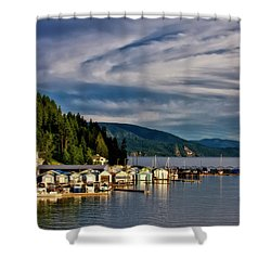 Shower Curtain featuring the photograph Garfield Bay by Albert Seger