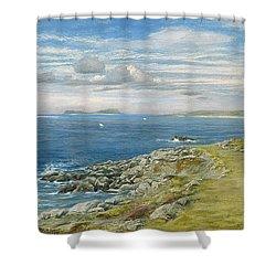 Garrison Walk Shower Curtain by John Brett