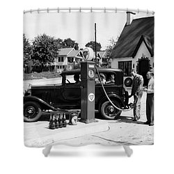 Gas Station Shower Curtain by Photo Researchers