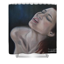 Gasp Shower Curtain by Jindra Noewi