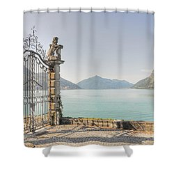 Gate On The Lake Front Shower Curtain