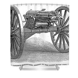 Gatling Gun, 1867 Shower Curtain by Granger