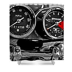 Gauging Speed Shower Curtain by Tom Gari Gallery-Three-Photography