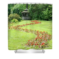 Gazebo Shower Curtain by Richard Bryce and Family