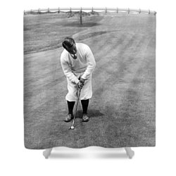 Shower Curtain featuring the photograph Gene Sarazen Playing Golf by International  Images