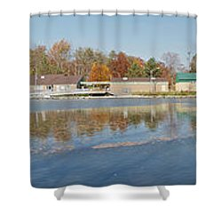Shower Curtain featuring the photograph Genesee River Panorama by William Norton