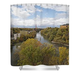 Shower Curtain featuring the photograph Genesee River by William Norton