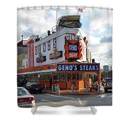 Geno's Steaks - South Philadelphia Shower Curtain by Bill Cannon