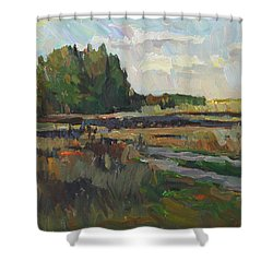 Gentle Autumn Shower Curtain