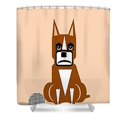 Geo Boxer Shower Curtain by Maria Urso