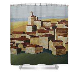 Geometric Village Spain Shower Curtain
