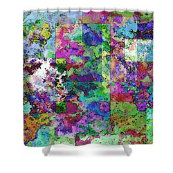 Geometrix  Shower Curtain by Debbie Portwood