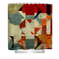 Geomix 04 - 39c3at227a Shower Curtain by Variance Collections