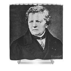 Georg Ohm, German Physicist Shower Curtain by Science Source