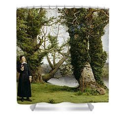 George Herbert At Bemerton Shower Curtain by William Dyce