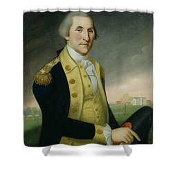 George Washington At Princeton Shower Curtain by Charles P Polk