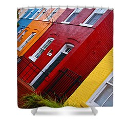 Georgetown Races Shower Curtain by Skip Hunt