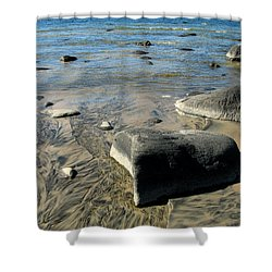 Georgian Bay Rocks Shower Curtain