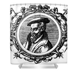 Georgius Agricola, German Scholar Shower Curtain by Science Source