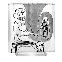 Gerard Hoffnung (1925-1959) Shower Curtain by Granger