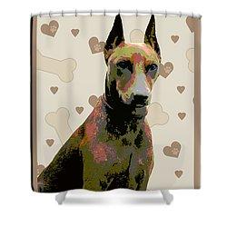 German Pinscher Shower Curtain by One Rude Dawg Orcutt