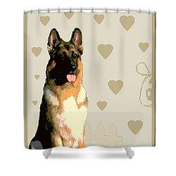 German Shepherd Shower Curtain by One Rude Dawg Orcutt