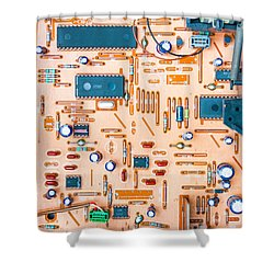 Get Connected Shower Curtain by Semmick Photo