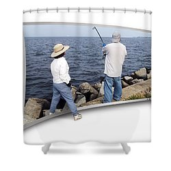 Get The Net Shower Curtain by Brian Wallace