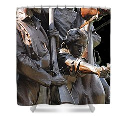 Shower Curtain featuring the photograph Gettysburg Monument by Cindy Manero
