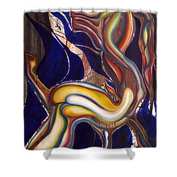 Ghost Horse And Still Born Shower Curtain by Sheridan Furrer