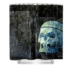 Ghost Skull Shower Curtain by Edward Fielding
