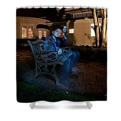 Ghostly Cousins Shower Curtain by Christopher Holmes