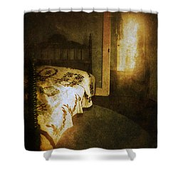 Ghostly Figure In Hallway Shower Curtain by Jill Battaglia
