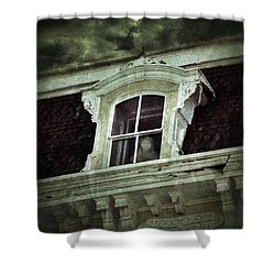 Ghostly Girl In Upstairs Window Shower Curtain by Jill Battaglia