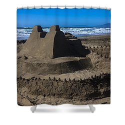 Giant Sand Castle Shower Curtain by Garry Gay