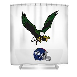 Giants Suck Shower Curtain by Bill Cannon